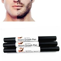 Men Beard Growth Pen Fast Effective Face Beard Whiskers Moustache Growth Enhance Enhancer Spray Shape Drawing Liquid Oil Pen 1
