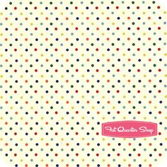 Nursery Fabric: Fatquartershop.com - Retro Basics by Michael Miller Fabrics - Retro Mini Dot SKU# CX4832-RETR-D $10.75
