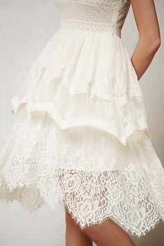 Anthro dress, wedding dress/bridesmaid inspiration! The top is meh but I love the details and the skirt.