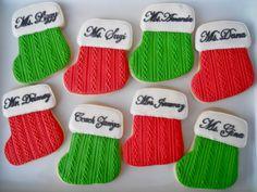 Oh Sugar Events: Cable Knit Cookies Christmas Stocking Cookies, Christmas Sugar Cookies, Christmas Baking, Christmas Stockings, Christmas Holidays, Cut Out Cookies, Cake Cookies, Cookie Decorating Supplies, Cake Decorating