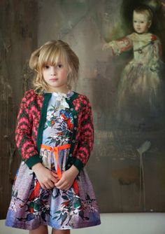 A lot going on but I like it! dominique vereecke #kids #fashion #estella