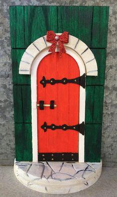 Magic Elf-Sized Door to the Santa's Workshop by HickoryRidgeDesign