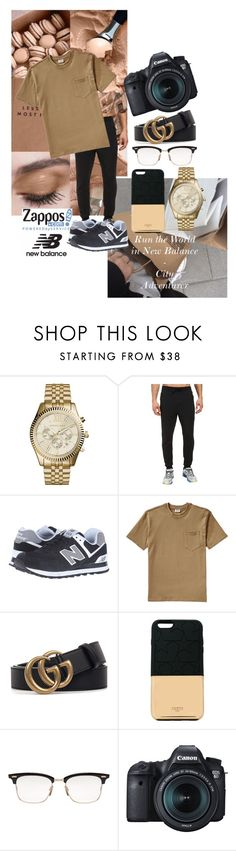 """""""Run the World in New Balance - City Adventurer"""" by ughlysa ❤ liked on Polyvore featuring Michael Kors, New Balance, New Balance Classics, Filson, Gucci, Ports 1961, Thom Browne, Eos, men's fashion and menswear"""