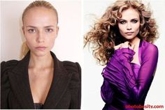 Famous models with and without hair and makeup. You'd look like a supermodel too with a whole make-up & hair team, lighting director, top end photographer, and photoshop artist.