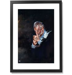 """Framed Sartorial Painting No.109 Domenico Gianfrate Print, 16"""" X 24"""" Epson, Black Wood, Fine Art Paper, The Republic, Solid Black, Frame, Prints, Museum, Painting"""