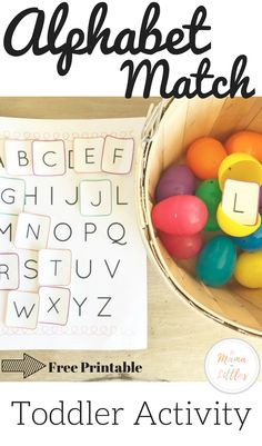 Teaching toddler letter recognition and matching while playing a fun game with easter eggs! Teaching Toddlers Letters, Letter Learning Games, Alphabet For Toddlers, Letter Games, Toddler Learning Activities, Games For Toddlers, Alphabet Activities, Infant Activities, Preschool Activities