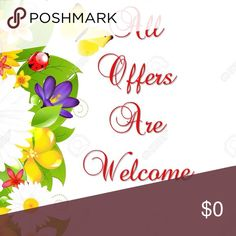 All Offers Are Welcome Thank You for Visiting Our Closet Other