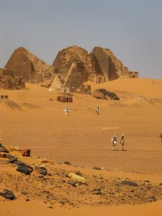 Kushite pyramids of ancient Nubia - Meroe, Sudan