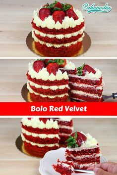 Aprenda a fazer um lindo bolo Nackter Kuchen aus rotem Samt. Esta receita de bolo red ve … - Kuchen Red Velvet Birthday Cake, Red Cake, Bolo Red Velvet Receita, Red Velvet Cake Decoration, Bolos Naked Cake, Easy Smoothie Recipes, Coconut Recipes, Pumpkin Spice Cupcakes, Fall Desserts