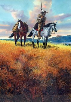 """Western Artist, Ron Stewart, Water Color Painting Titled, """"Free Trapper"""", #894"""
