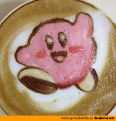 Latte Art: Kirby.