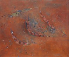 Pilbara landscape | Fred WILLIAMS | NGV Australian Painting, Australian Artists, Fred Williams, Contemporary Artwork, Landscape Paintings, Landscapes, Japanese Prints, Cool Art, Awesome Art