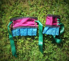 Mad Hatter Costume - Wrist cuffs.  Hand made by Faerie In The Foxglove.