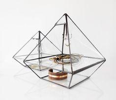 Stained Glass Display Box klar-Glas-Schmuck-Box von jacquiesummer