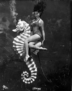 From the book - 'Silver Springs: The Underwater Photography of Bruce Mozert.' Photoshoot: Silver Springs, Florida 1938.
