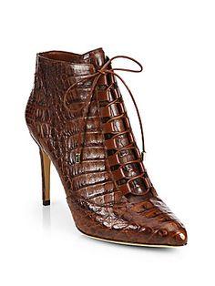 instagram @mr_slic www.reverbnation.com/mrslic404 Alexandre Birman Lace-Up Crocodile Ankle Boots
