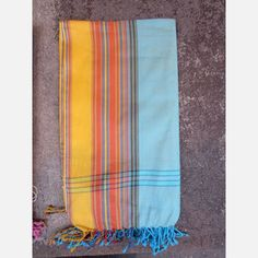 Kenyan Wrap Teal/Yellow now featured on Fab.