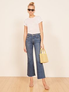 Mid Crop Flare Jean