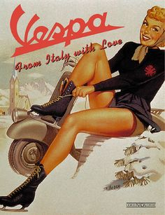 Vintage Poster - Vespa - From Italy with Love