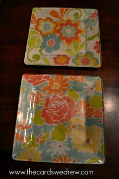 Modge Podge plates... DEFINITELY what I need for the dining room walls.  Can pick out fabric to match my decor.  I'm so stoked to do this!!