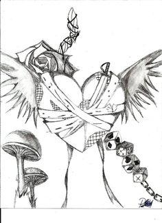 Emo Heart Drawings   Random emo drawing by Vmpnproudofit