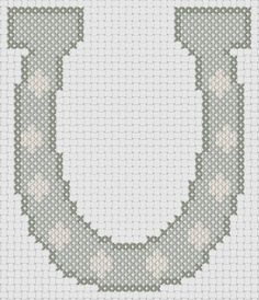 Embroidery: Horse Shoe (Cowboy) Counted Cross Stitch