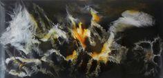 'Sky Spirits' by Kim Switzer Glass ~ 60cm x 120cm