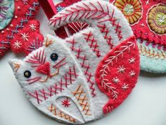 Darling Details ❤~ idea for applique on girl's  dress or jumper