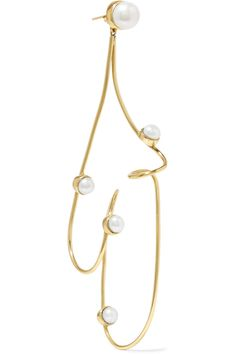 Gold-plated Freshwater Pearl Hoop Earrings - one size Cornelia Webb 2HKienEp