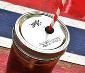 Mason jar or Ball jar drinking lids