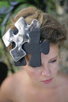 Metallic Leather Headdress.  http://www.theheadmistressboutique.com/ https://www.etsy.com/uk/shop/headmistressboutique?ref=si_shop