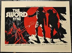 The Sword & Kyng Autographed Concert Poster, signed by both bands!