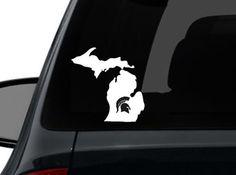 Dad would love this. Michigan Msu, Michigan State Spartans, Go Blue, Go Green, Michigan State Univeristy, Msu Spartans, The Mitten State, State Street, Wall Sticker