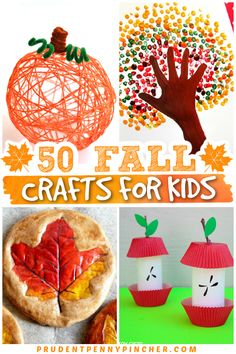 Easy Fall Crafts, Fall Crafts For Kids, Toddler Crafts, Kids Crafts, Gifts For Kids, Craft Projects, Arts And Crafts, Craft Ideas, School Children