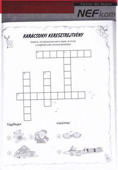 Keresztrejtvény Math For Kids, Christmas Printables, Advent, Halloween, Children, Toddlers, Boys, Kids, Child