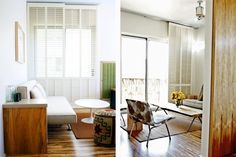 Very interesting window coverings - sliding door style shutters that go right to the floor    h2 hotel - Healdsburg, CA, Marie Fisher Interior Design | Remodelista Architect / Designer Directory
