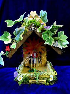 Imbolc Goddess Brighid Brigid Corn Dolly Altar.
