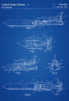 Space Shuttle Patent - Space Art Aviation Art Blueprint Pilot Gift Aircraft Decor Space Poster Space Program Diagram Shuttle by PatentsAsPrints Blueprint Art, Pilot Gifts, Patent Drawing, Space Shuttle, Space Telescope, Poster Prints, Wall Art Prints, Patent Prints, Aviation Art