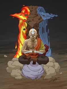 Master of All Four Elements by friedChicken365.deviantart.com on @deviantART
