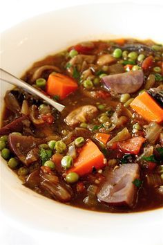 Vegetarian stew. Made this last night - who knew a vegetarian stew could be so darn tasty? Even hubby, who insists on meat, loved this one. I think the white wine reduction was key!