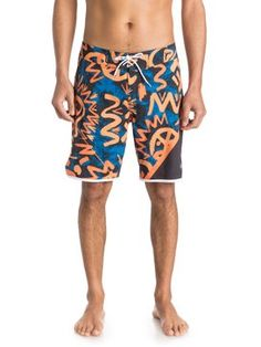 """quiksilver, AG47 New Wave 19"""" - Boardshorts, AG47 NEW WAVE NEON ORANGE (nhp6)"""