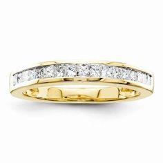 14k A Quality Complete Diamond Wedding Band - $896.00