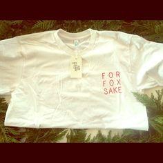 For Fox Sake! T shirt For Fox Sake t shirt! Pocket-like screen printed design by Tiny Bones. Super soft t shirt, unisex size Lg. 100% organic cotton. American Apparel Tops Tees - Short Sleeve
