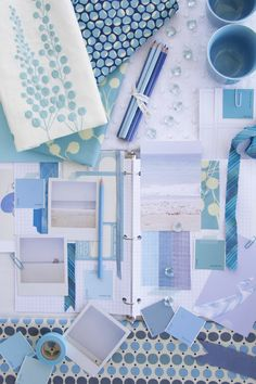 blue aqua white & sand via decor8