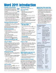 Word 2011 Introduction for Mac Quick Reference Guide (Cheat Sheet of Instructions, Tips  Shortcuts - Laminated Card)