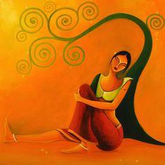 Modern Indian Art, Indian Folk Art, Indian Artist, Art Painting Gallery, Painting & Drawing, India Art, India India, Rajasthani Art, Madhubani Art