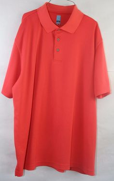 PGA Tour Golf Shirt XXL Short Sleeves Polo Light Orange #PGATOUR #PoloRugby