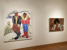 There is a special area showcasing African American art
