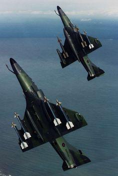 british-eevee:New Zealand A-4 Skyhawks in flight