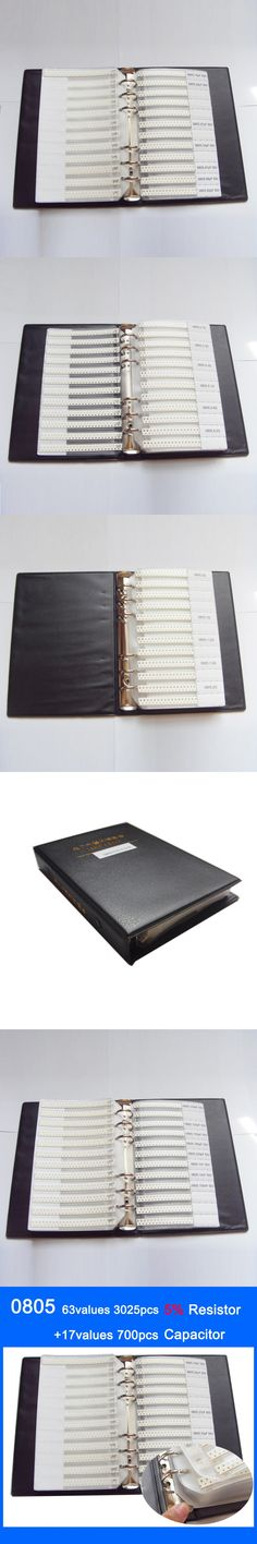 Free shipping 0805 SMD Sample Book 63values 3025pcs Resistor Kit and 17values 700pcs Capacitor Set